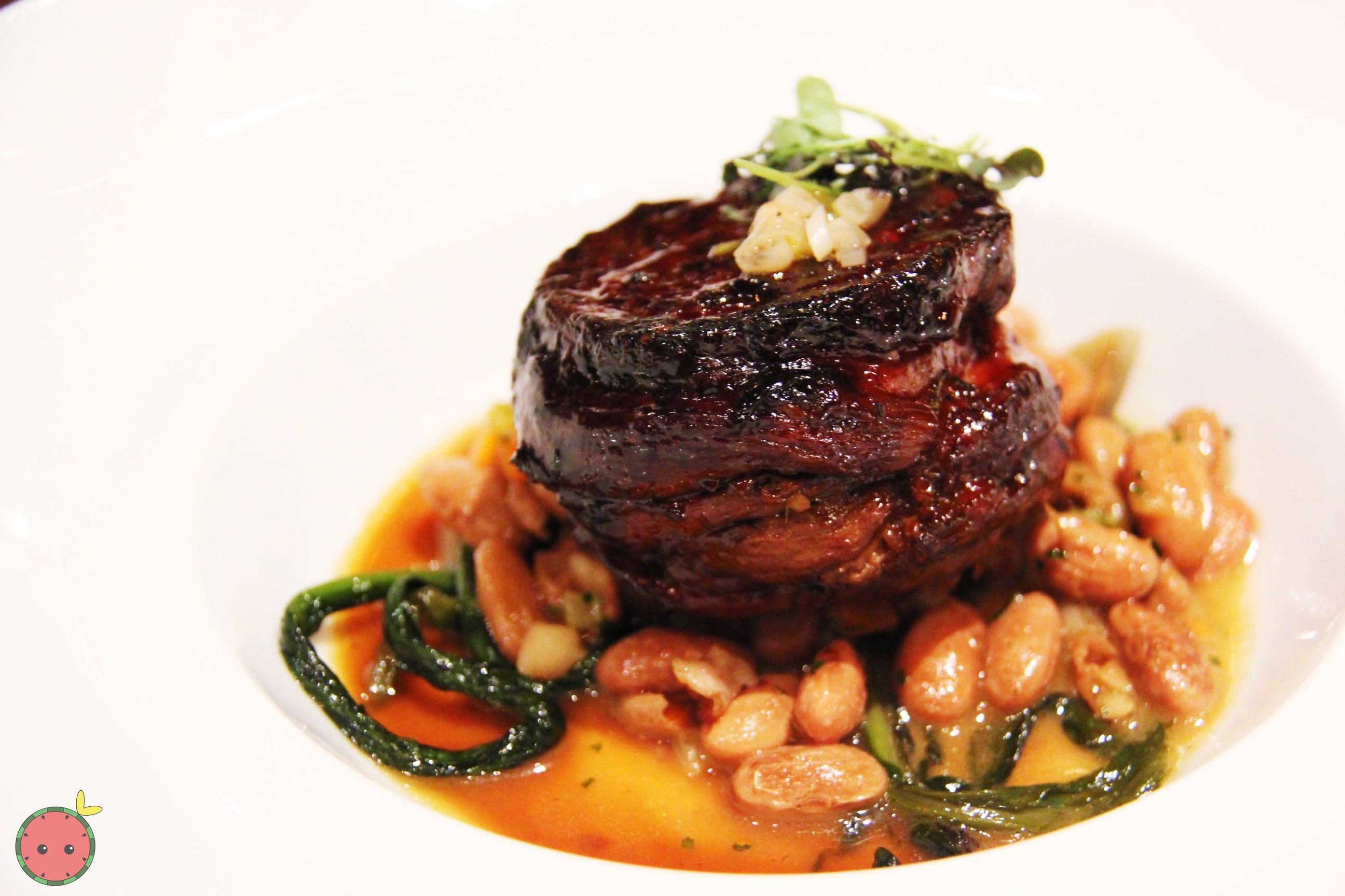 Braised lamb, ramps, cranberry beans