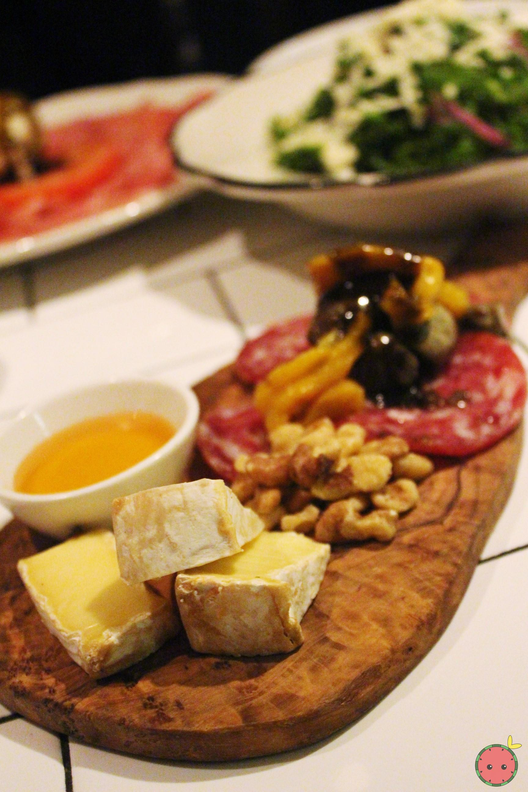 Sopressata and camembert