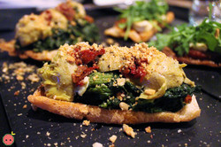 Sauteed Spinach, Artichoke Hearts, Sundried Tomatoes, & Toasted Almonds