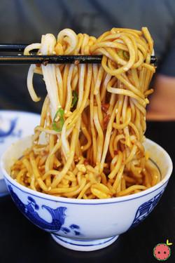 Cold Noodles Szechuan Style - Cold noodles flavored with vinaigrette