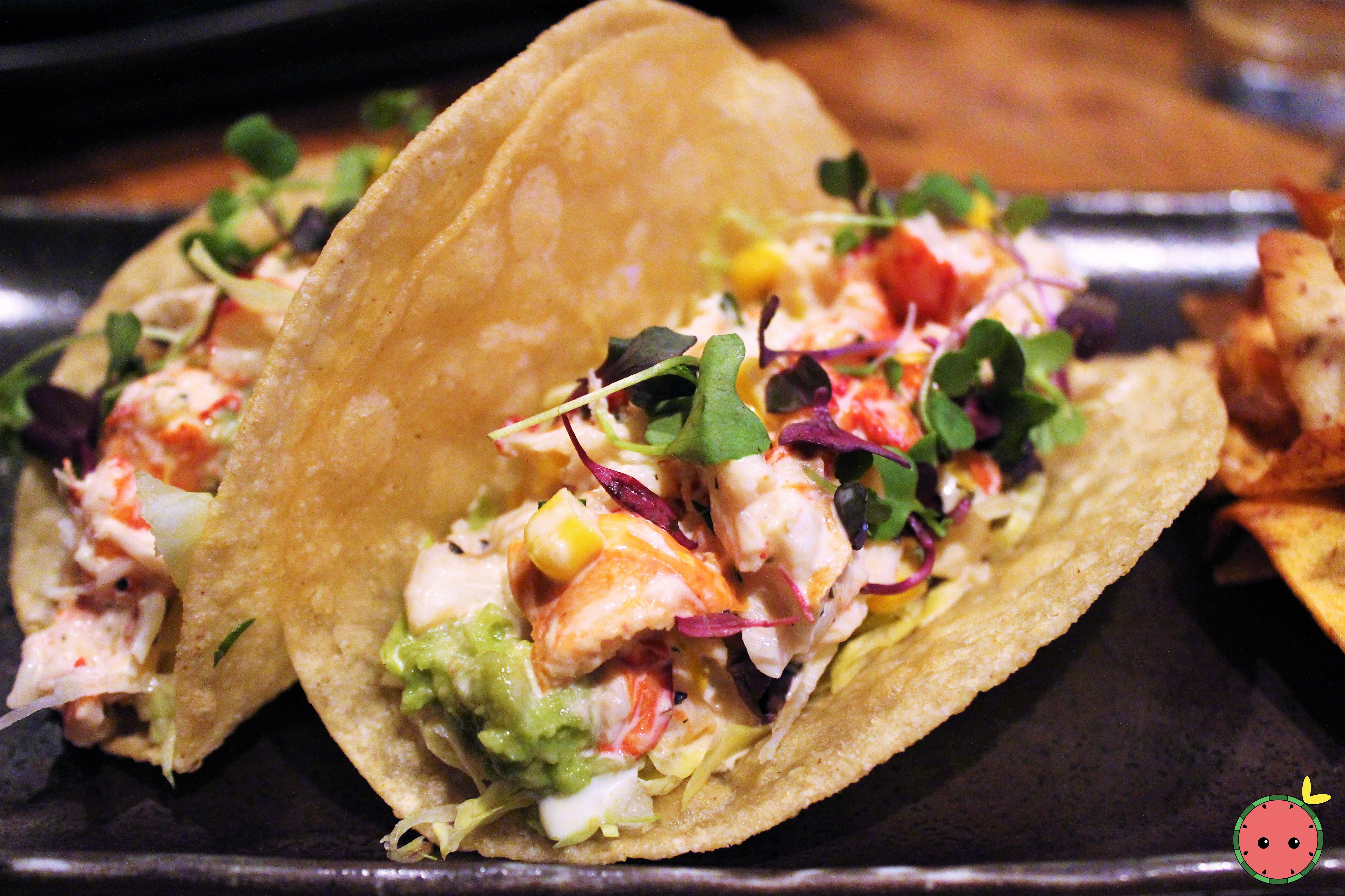 Lobstah Tacos with Lobster Salad, Roasted Sweet Corn, Roasted Garlic, & Fresh Tarragon 2