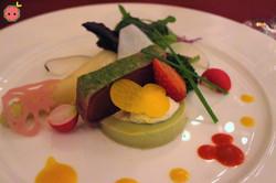 Tuna with Avocado Mousse & Assorted Veggies 2