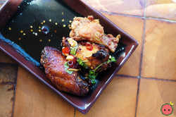 Maple-Miso Smoked Chicken Wings