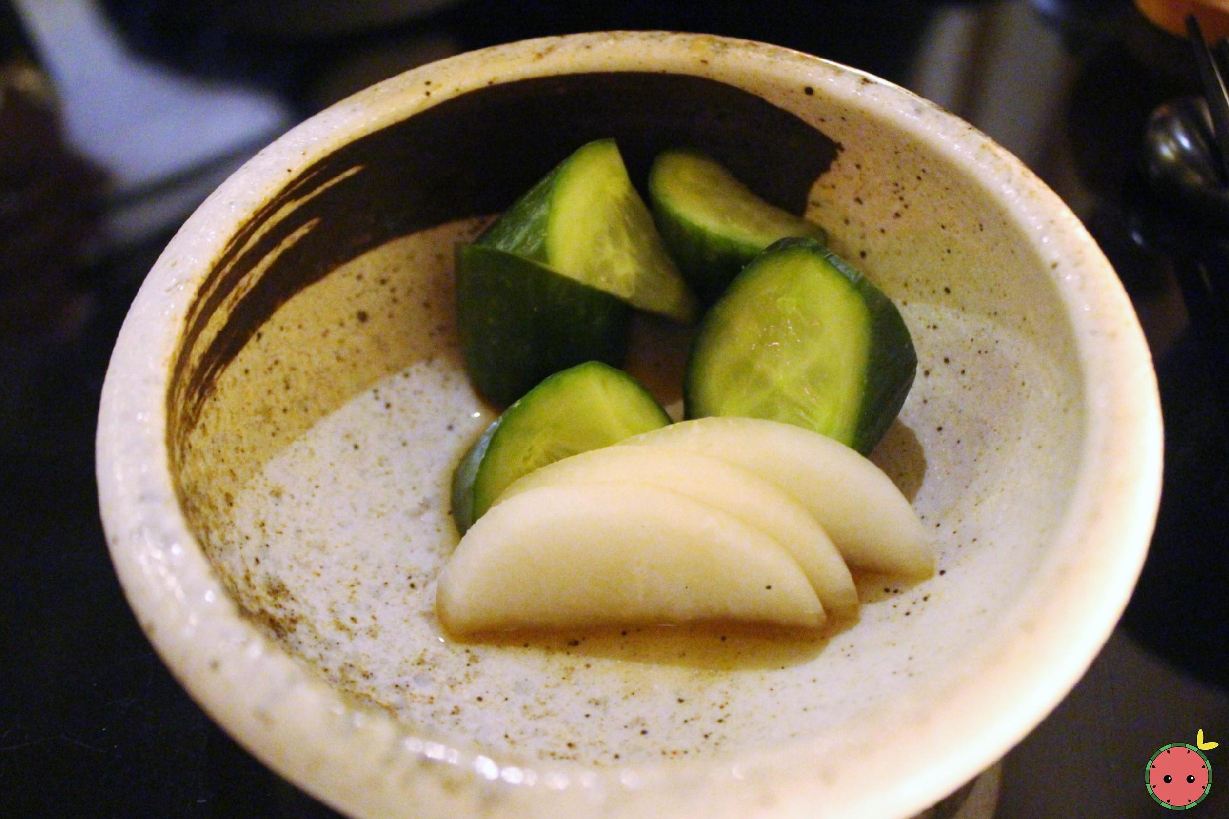 Pickeled radish and cucumber