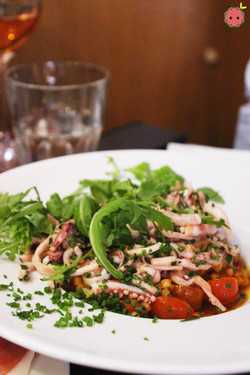 Calamari With Parsley, Ginger & Sesame; Sardinian Fregola With Cherry Tomatoes