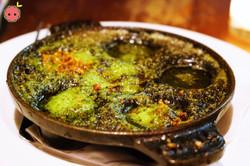 Escargots with Garlic Parsley Butter & Breadcrumbs