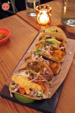 Taco Flight - Al Pastor, Suadero, Pescado, Picadillo, Hongos, & Tinga De Pollo