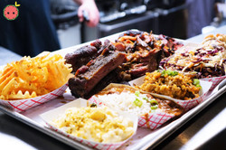 Ribs, Pulled Pork, Brisket, & Chopped Chicken, Creole Potato Salad, Spicy Sweet Cole Slaw, Red Beans