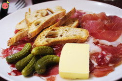 Charcuterie platter of the House Conquet in Laguiole