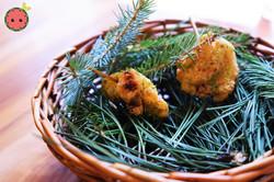 Balsamic Fried Chicken with Pine Salt