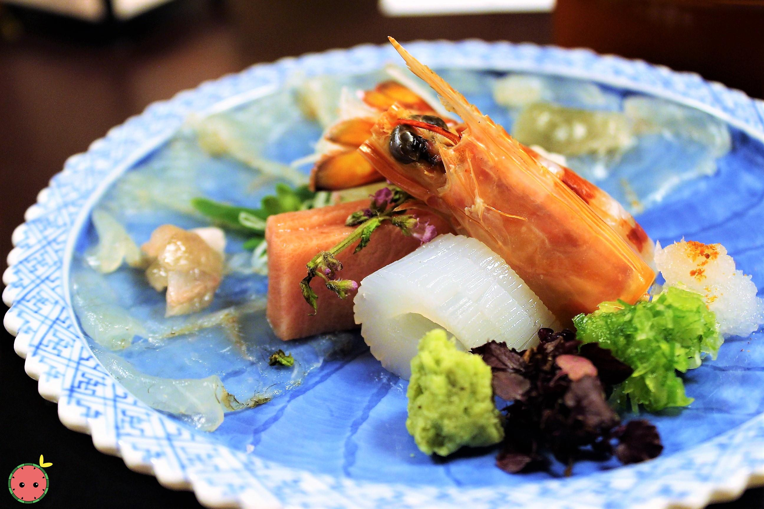 Mukozuke - Assorted seasonal sashimi