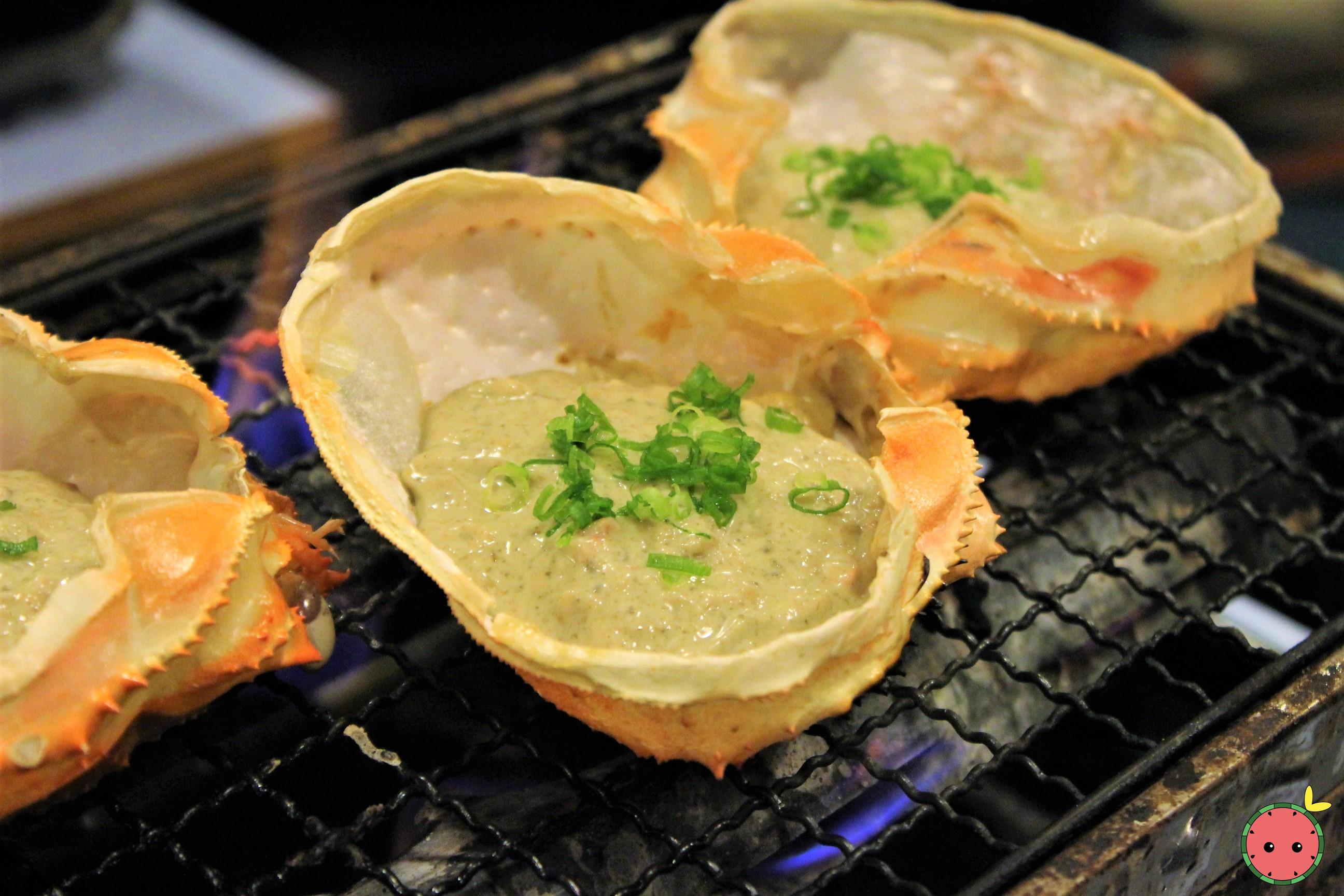Kanimiso Koura Yaki (while grilling) 2