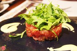 Tartar de Atun - Tuna tartar with pickles, capers, and calamansi mayonnaise