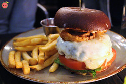 Wagyu Beef Burger - Crunchy red onions, pepper jack cheese, guacamole, housemade Russian dressing, F