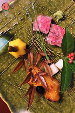 Ozaki-Gyu & Yuzu Butter Fish (with Miso, Kuromame, & Kuwai) 2