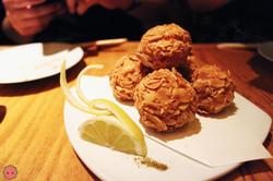 Ebi Shinjo - Deep fried shrimp balls covered with sliced almonds