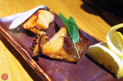 Gindara Yuan Yaki - Grilled fillets of cod fish steeped in sweet soy sauce