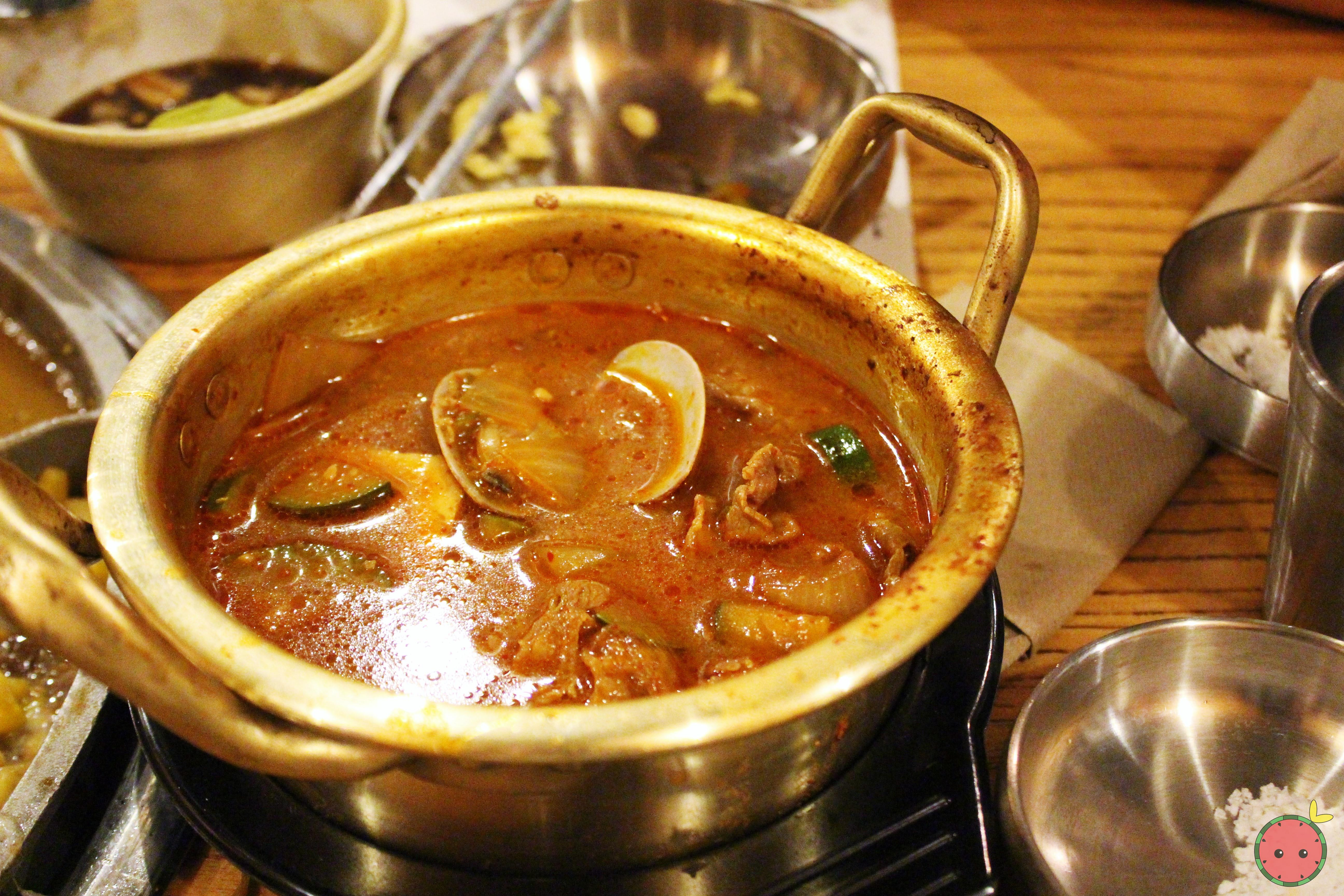Bean paste stew