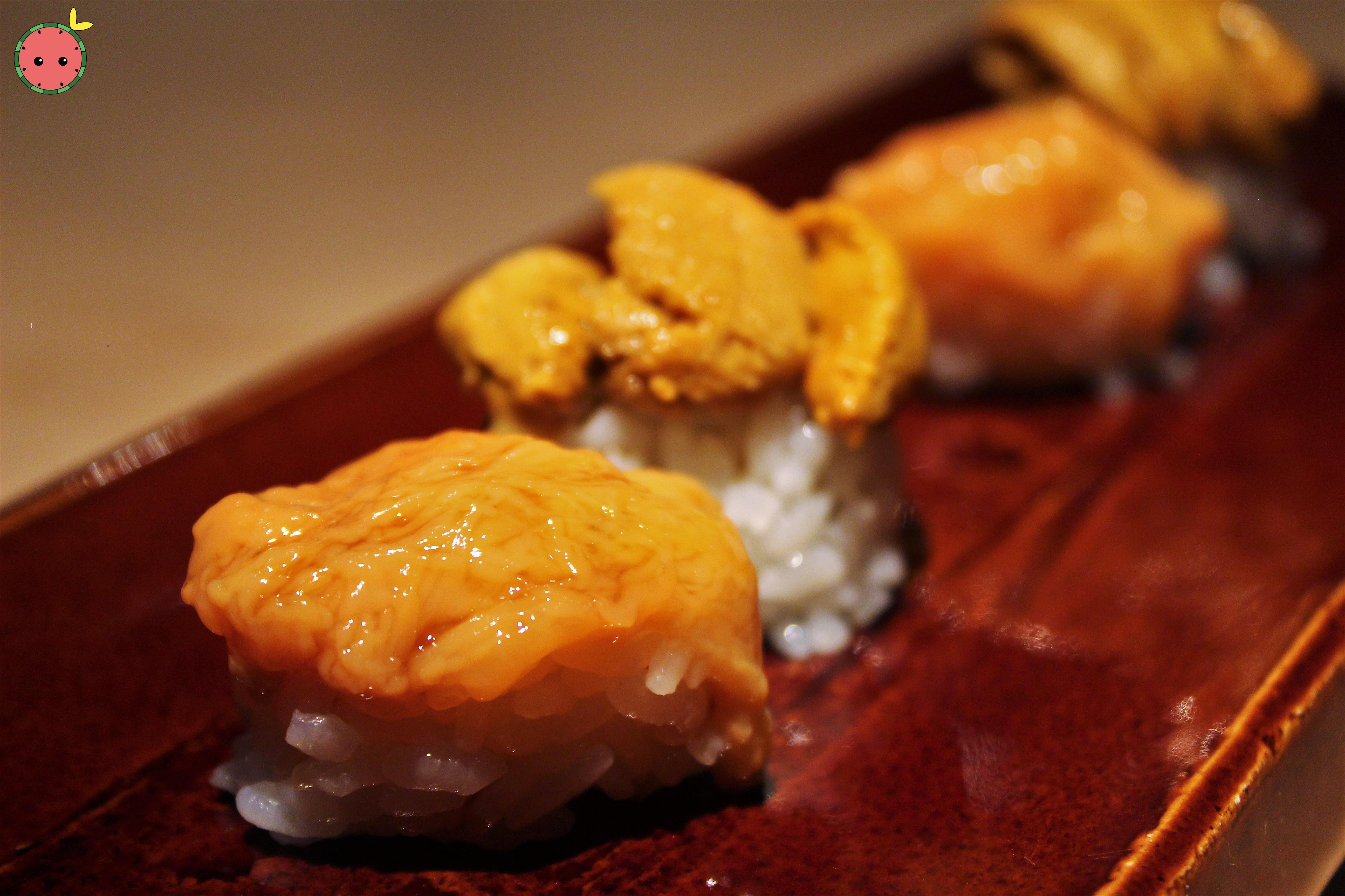 Konowata (sea cucumber innards) and uni from Hokkaido