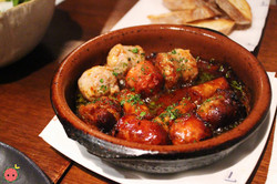 Trio de Chorizos - Assorted chorizos cooked in white wine and olive oil