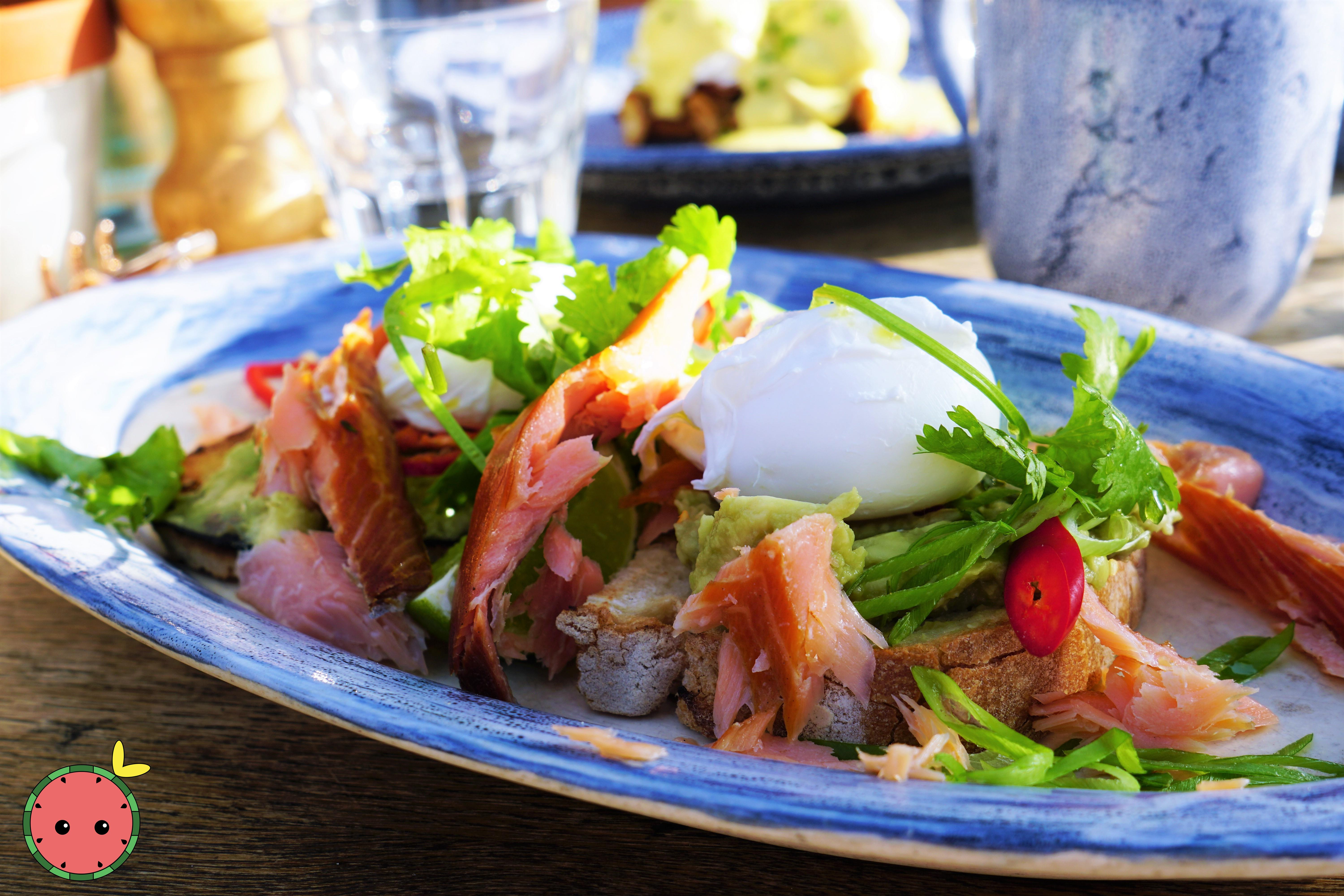 Smashed Avocado and Poached Eggs over To