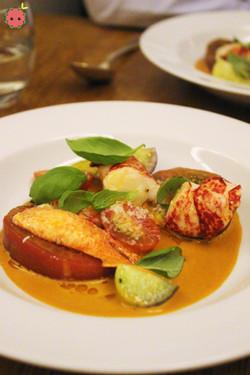 Breton Lobster with Tomato Salad 2
