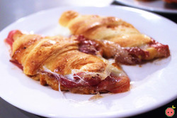 Cured Ham with Cheese Croissant