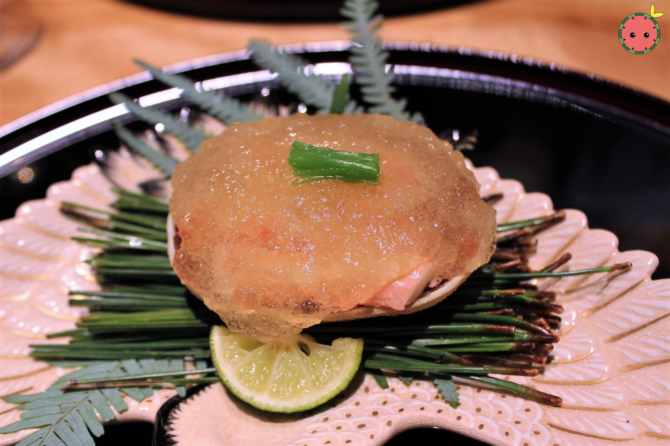 Green Crab with Vinegar Jelly and Sudashi Citrus