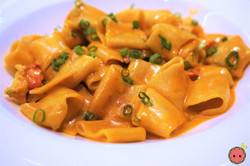 Paccheri with Lobster, Green Onion, & Tomato 2