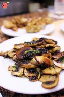 Mushroom with Pesto