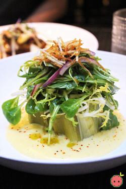 Leeks Vinaigrette Salad with Hollandaise Sauce