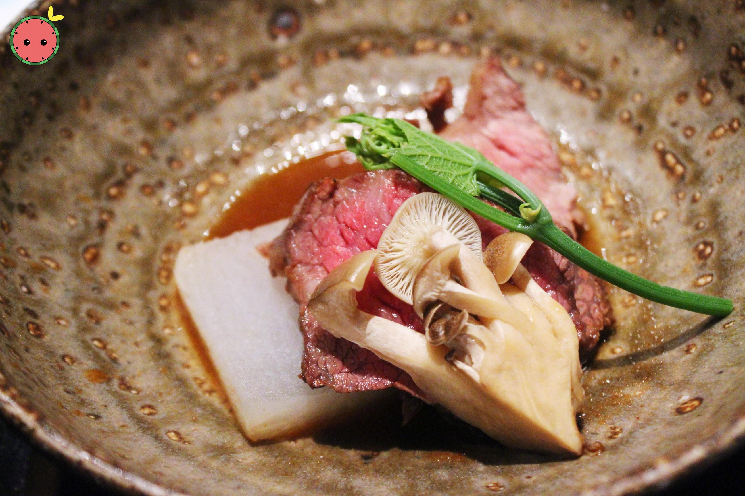Beef with Daikon Radish and Shimeji Mushrooms