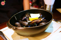 Moules Frites - Mussels with Pernod, Lemon, Shallots, Fines Herbes & Frites