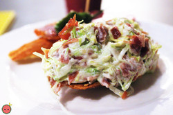 Montadito with Lettuce, Cured Ham, & Mayonnaise