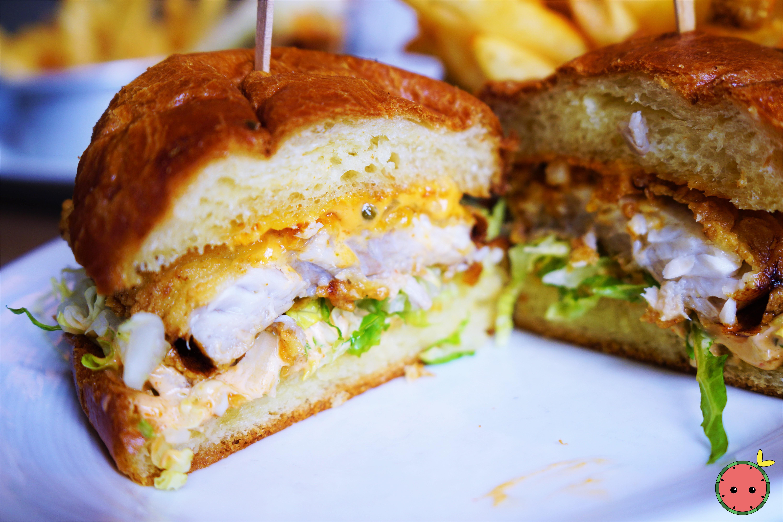 Fried FIsh Sandwich with Spicy Tartar