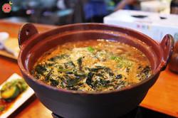 Yokozuna Dip Soba - Homemade soba with miso sesame based soup, homemade slow-braised marinated pork