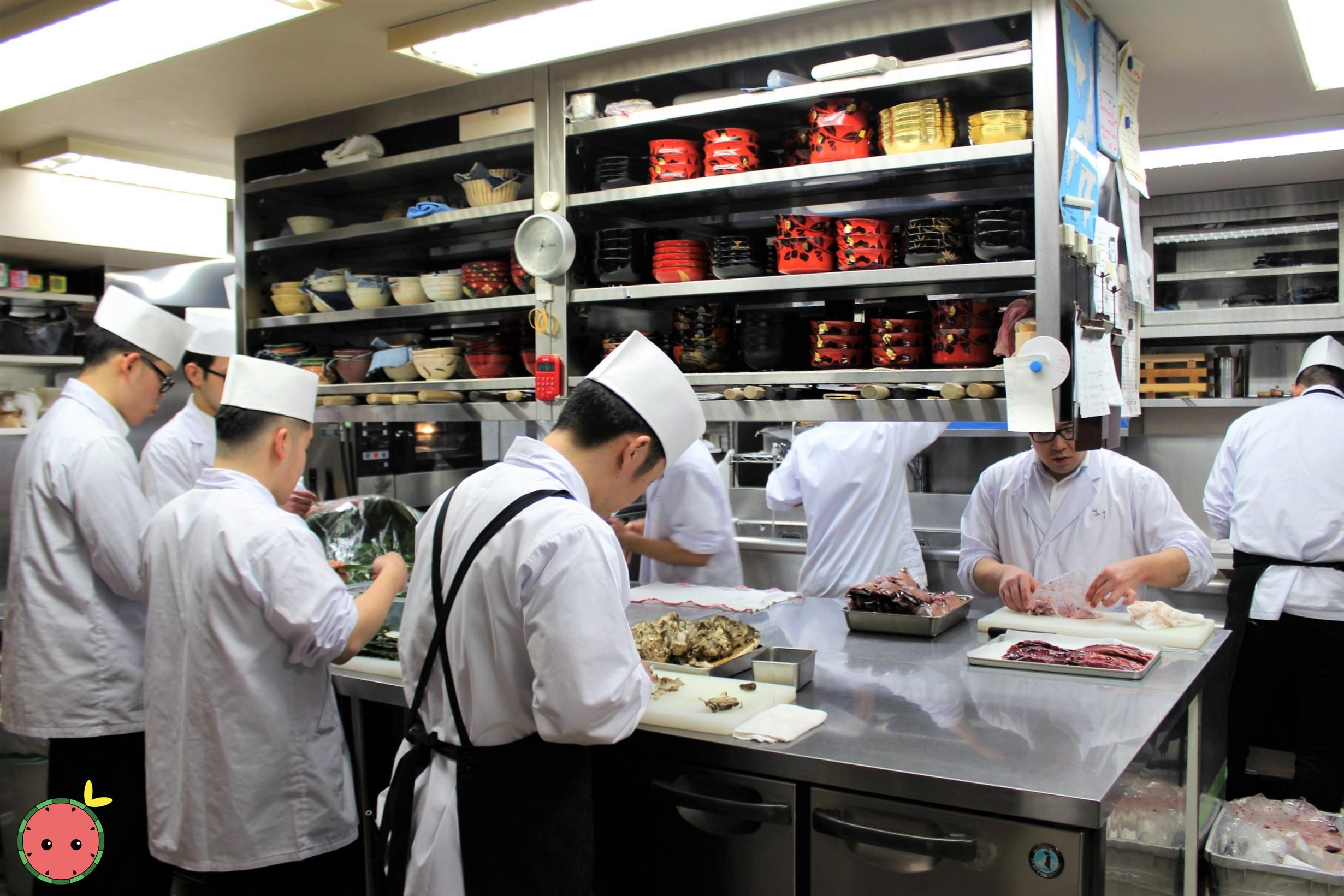 Kitchen at Ginza Kojyu