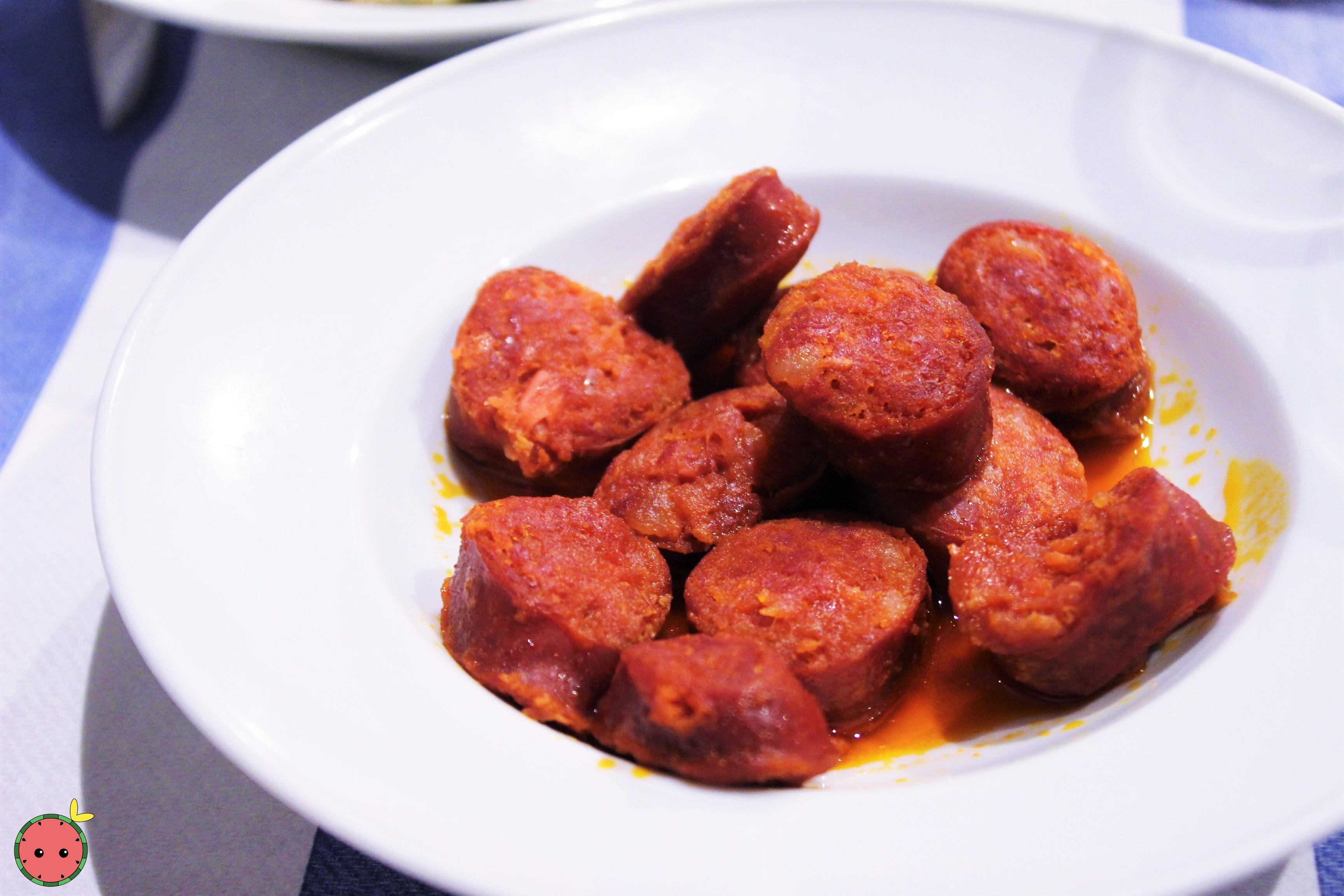 Chorizo in Cider Sauce