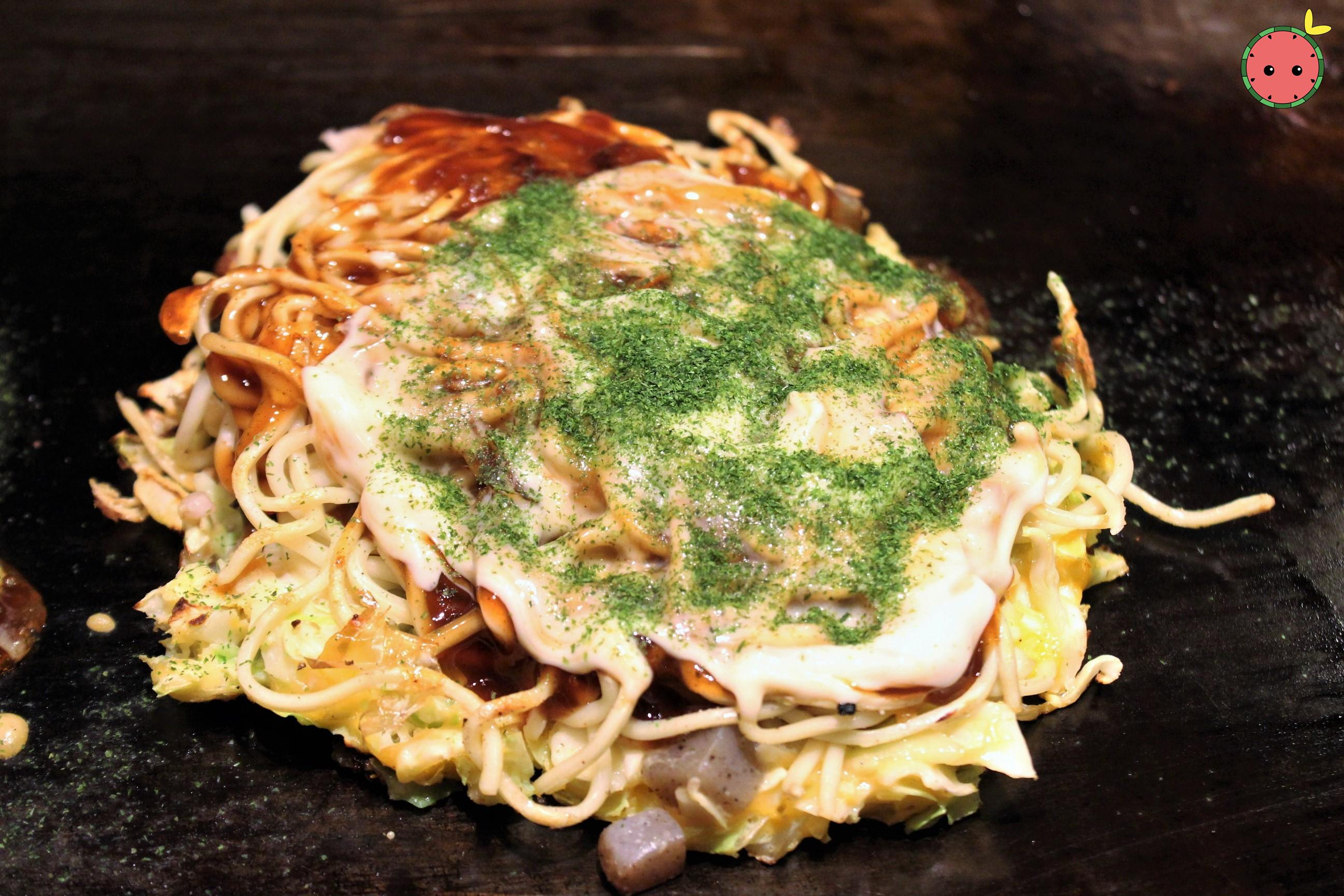 Modan-Yaki with Shrimps and Scallops