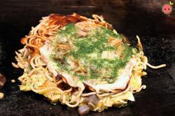 Modan-Yaki with Shrimps and Scallops