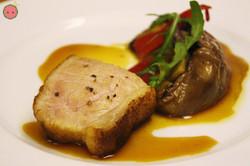 Medium Rare Pork with Eggplant