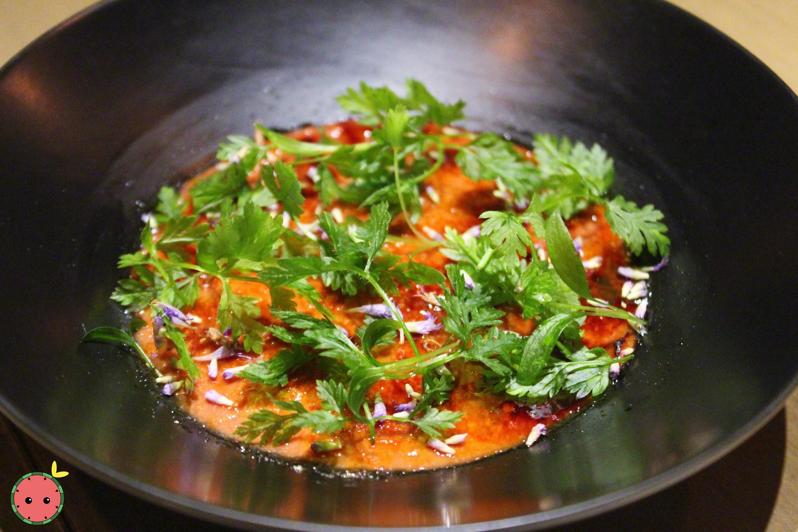Liver_Brûlée_-_Chicken_Liver_Parfait,_Seasonal_Herbs