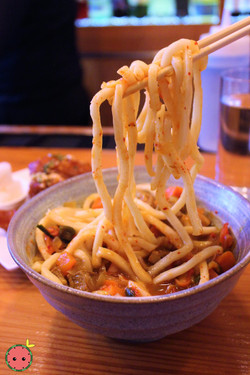 Curry Udon with Kimchi in Pork Curry Broth 2