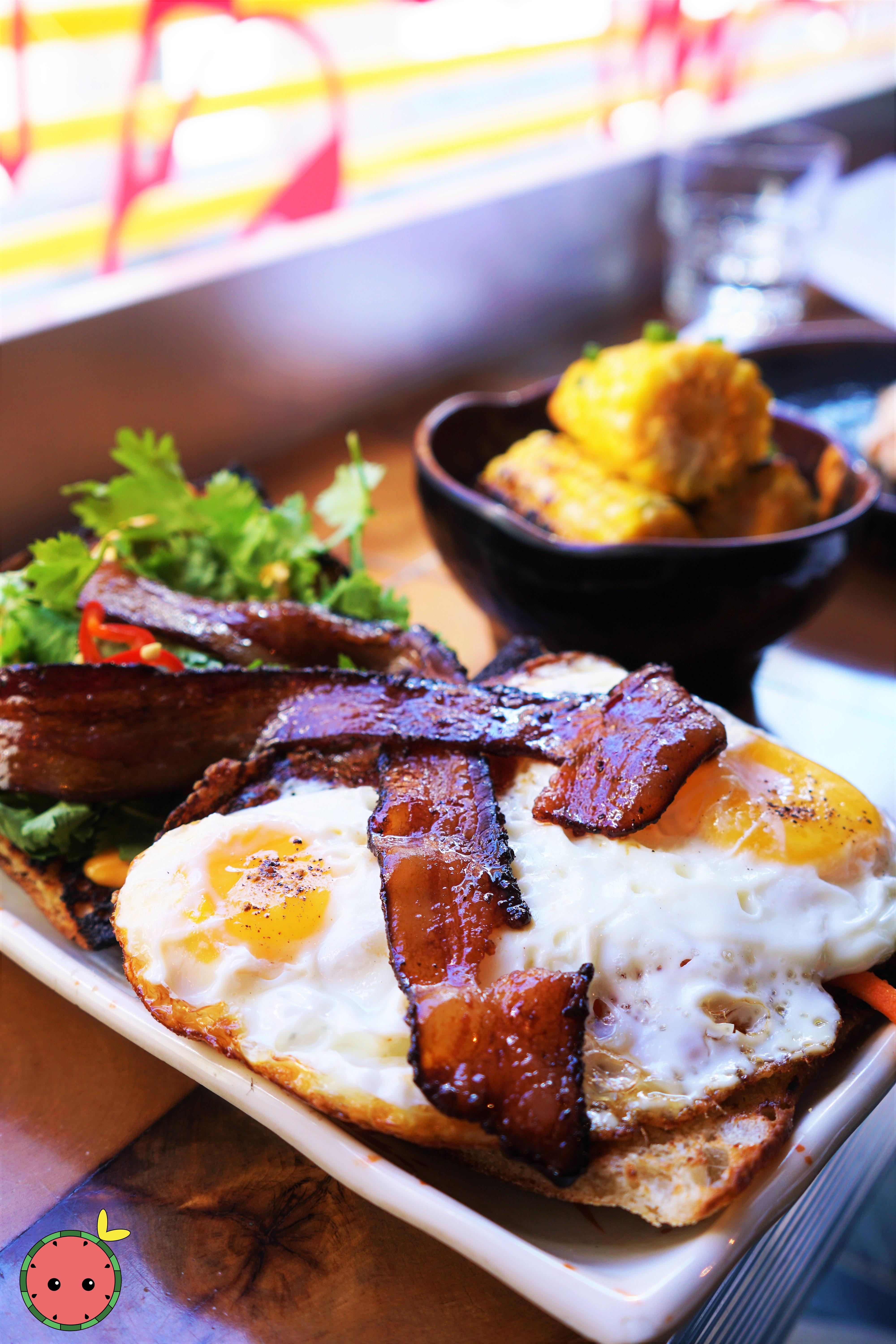 Fried Egg Banh Mi with Soy Glazed Bacon 3