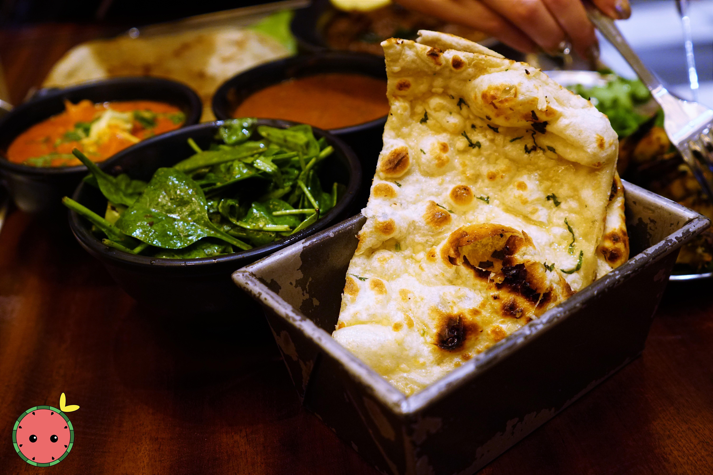 Garlic Naan with Coriander Sprinkle