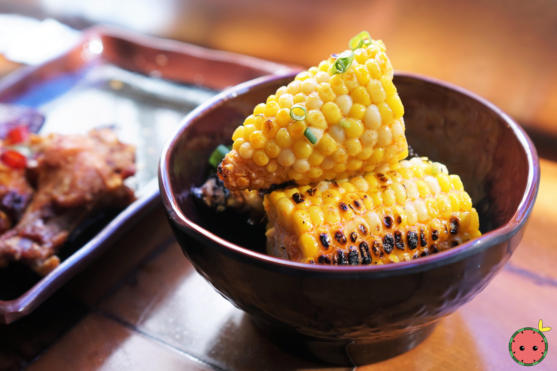 Grilled Corn & Sriracha Butter