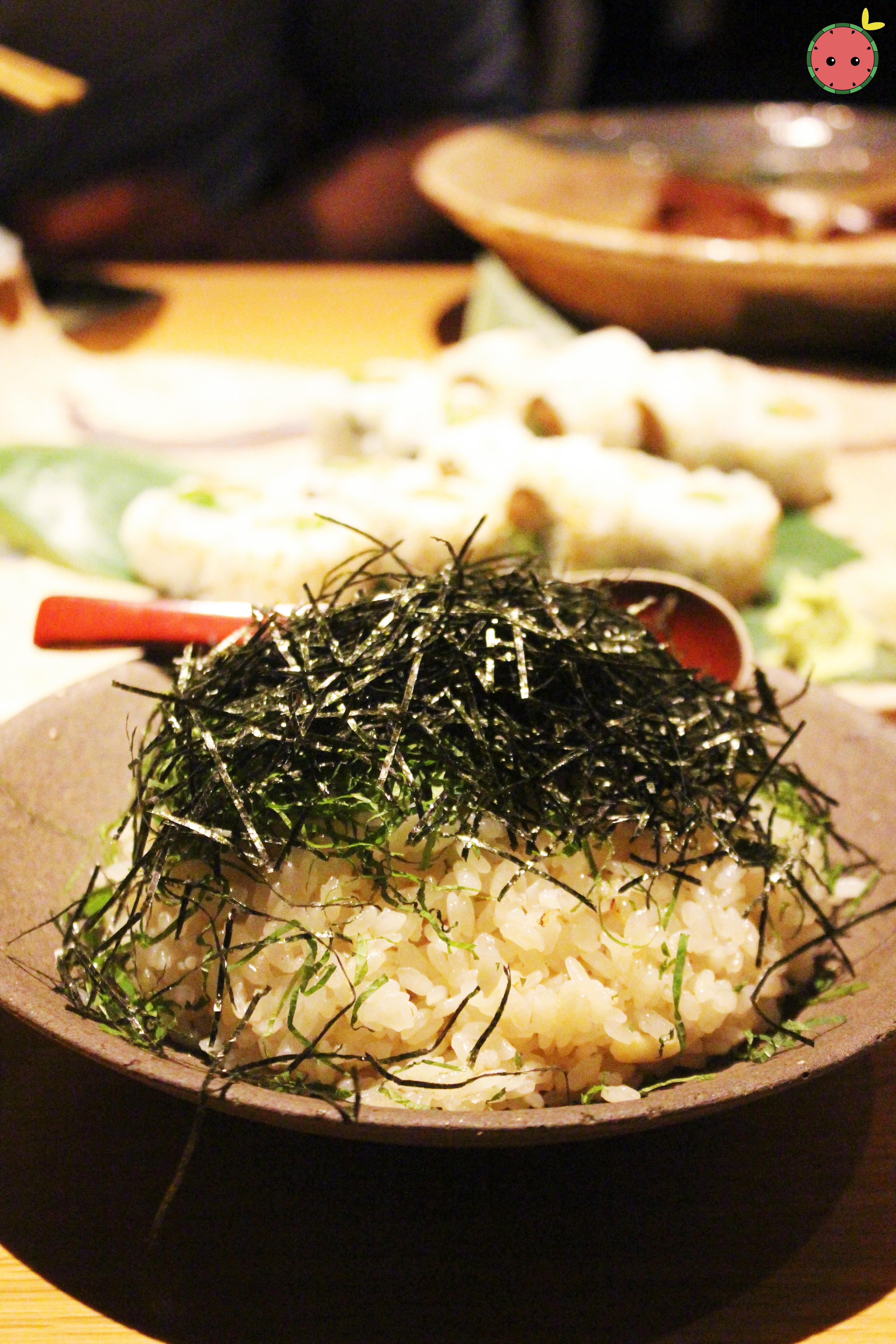 Garlic shiso fried rice