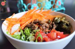 Sinigang Bowl (short rib, garlic fried rice, tomatoes, carrots, & bok choy)