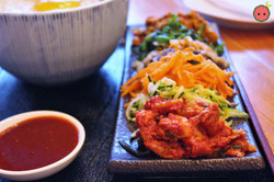 Kimchi, Pork, & Marinated Vegetables