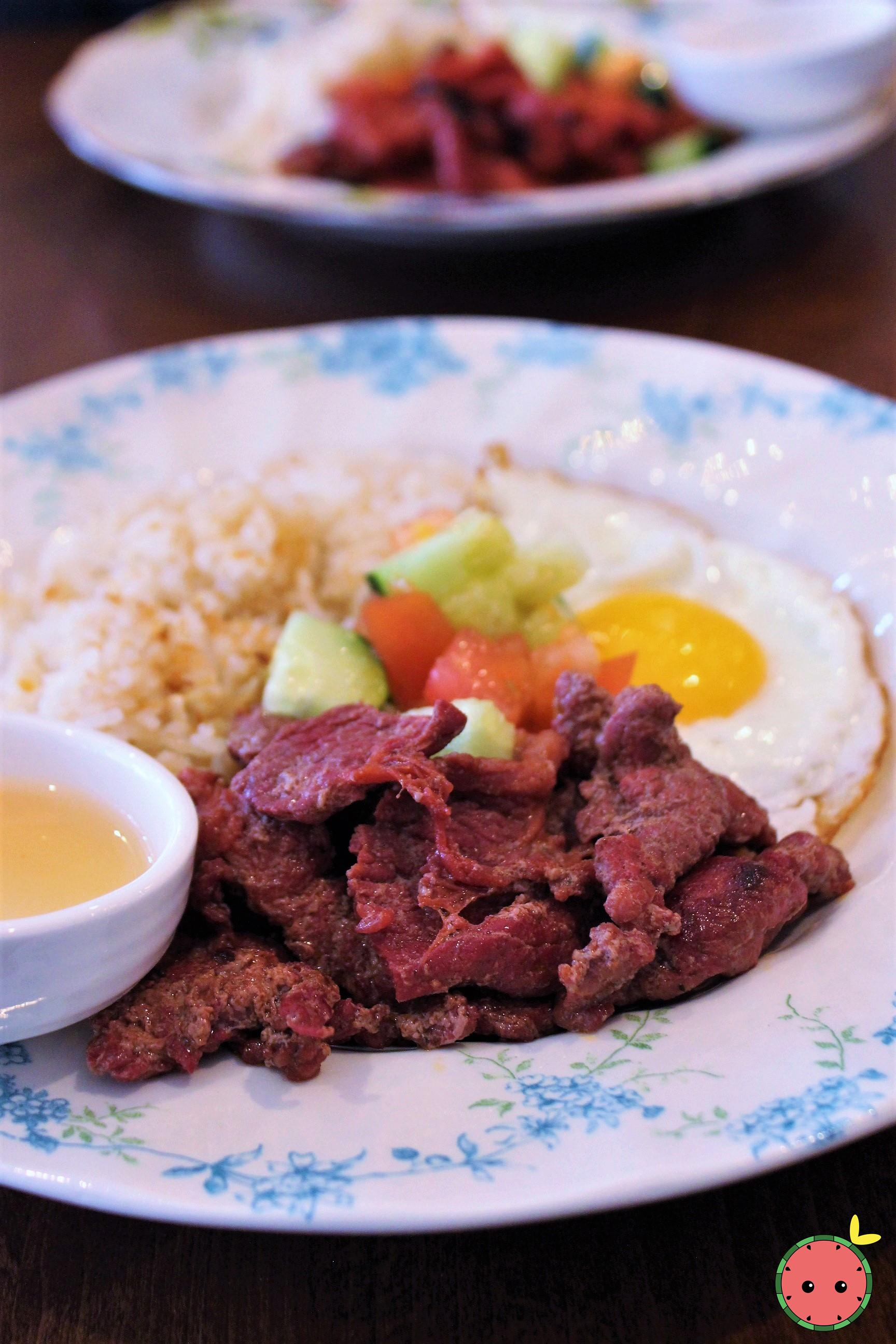 Tapsilog - Cured Marinaated Beef (Tapa)